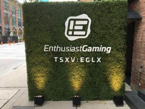 "Enthusiast Gaming commences trading on the Toronto Venture Stock Exchange under the symbol ""EGLX"""