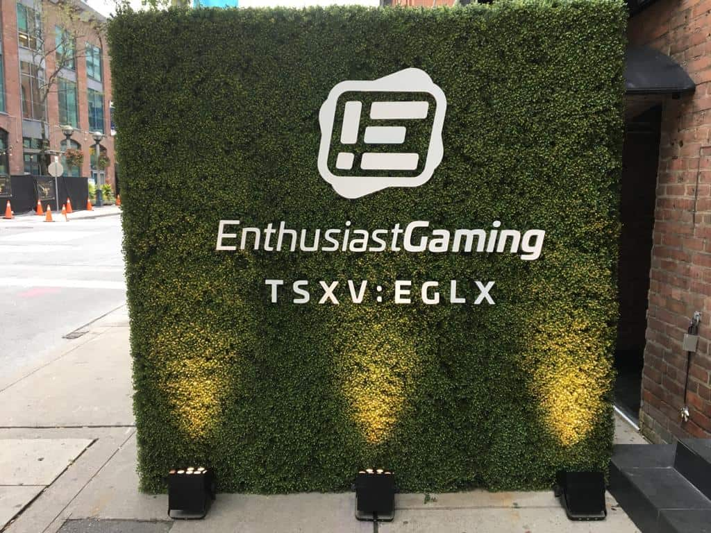 Enthusiast Gaming Commences Trading On The Toronto Venture Stock