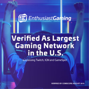 Enthusiast Gaming Verified as Largest Gaming Network in the U.S. By Comscore