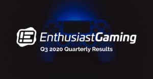 Enthusiast Gaming Announces $31.7 Million of Pro Forma Revenue in Q3 2020